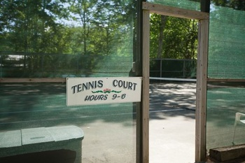 entrance to outdoor tennis court