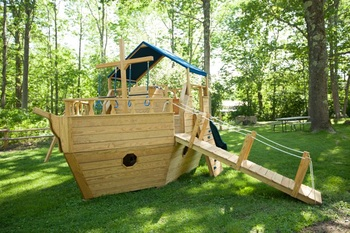 wooden ship playground